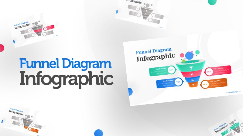 Business Framework in Funnel Diagram with Bubbles Infographic Presentation 0