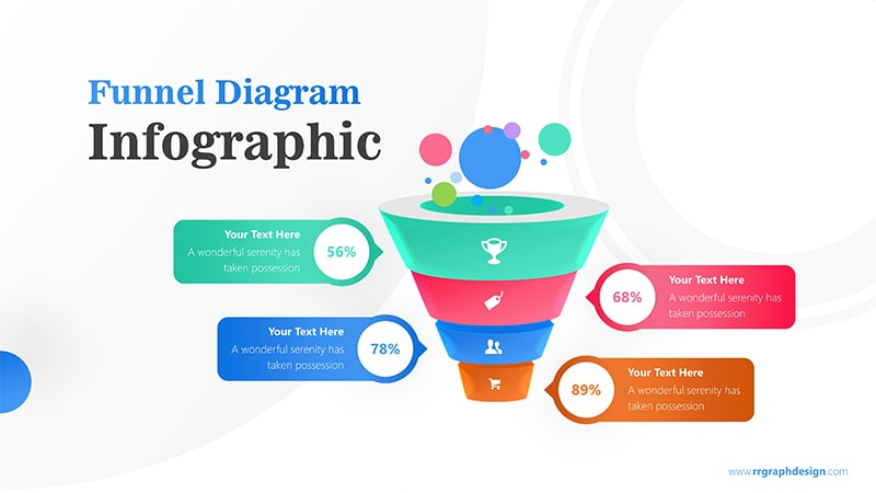 Business Framework in Funnel Diagram with Bubbles Infographic Presentation 1