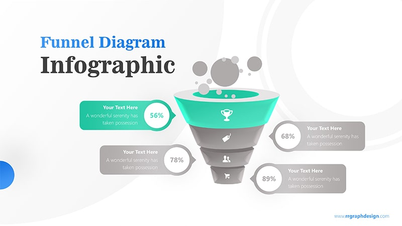 Business Framework in Funnel Diagram with Bubbles Infographic Presentation 2