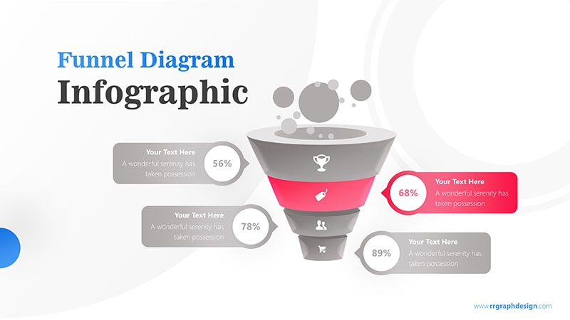 Business Framework in Funnel Diagram with Bubbles Infographic Presentation 3
