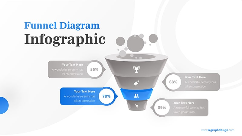 Business Framework in Funnel Diagram with Bubbles Infographic Presentation 4