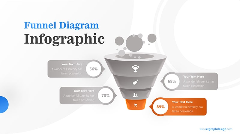 Business Framework in Funnel Diagram with Bubbles Infographic Presentation 5