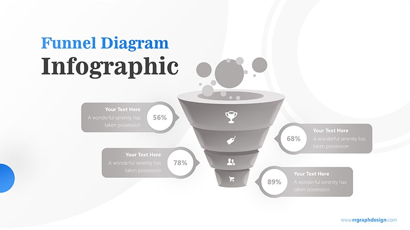 Business Framework in Funnel Diagram with Bubbles Infographic Presentation 6