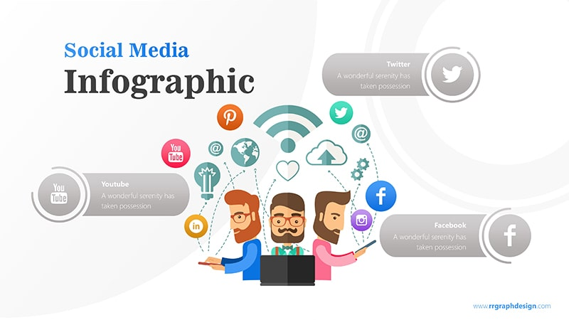 Business Team Character With Social Media Icons Ilustration 5