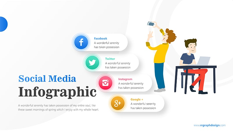 Businessman and Social Media Profiles with Text Details 1