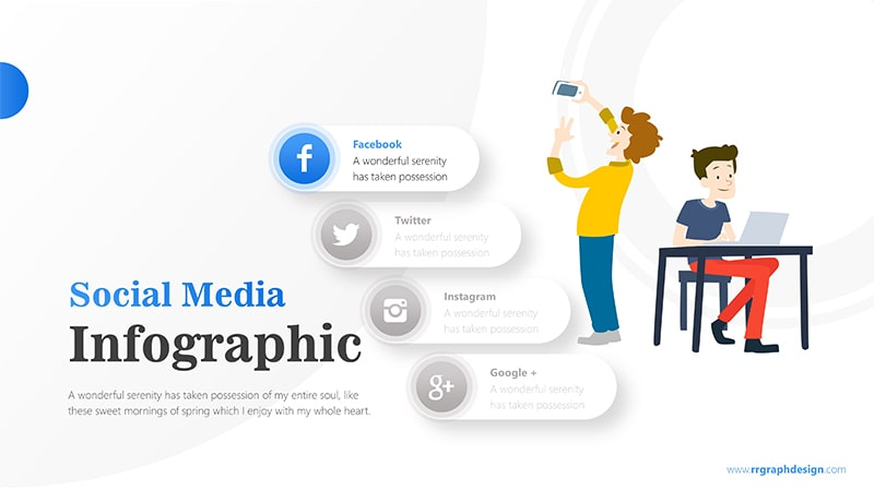 Businessman and Social Media Profiles with Text Details 2
