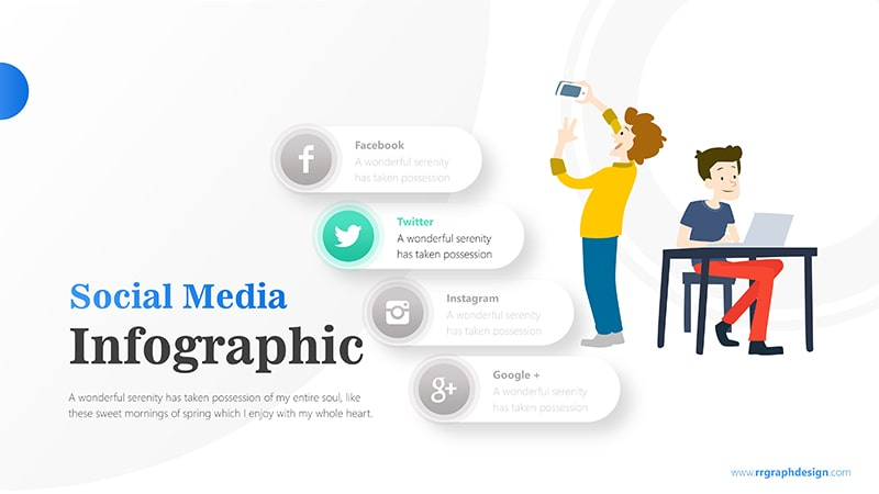 Businessman and Social Media Profiles with Text Details 3