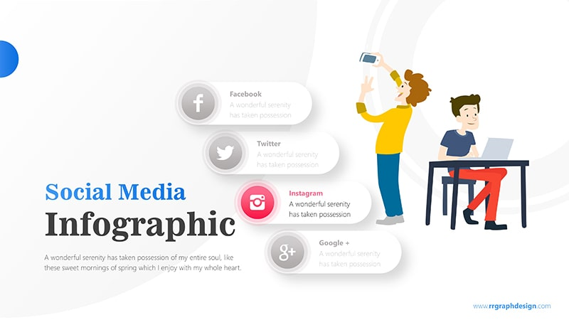 Businessman and Social Media Profiles with Text Details 4