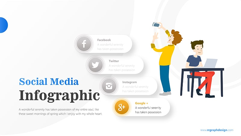 Businessman and Social Media Profiles with Text Details 5