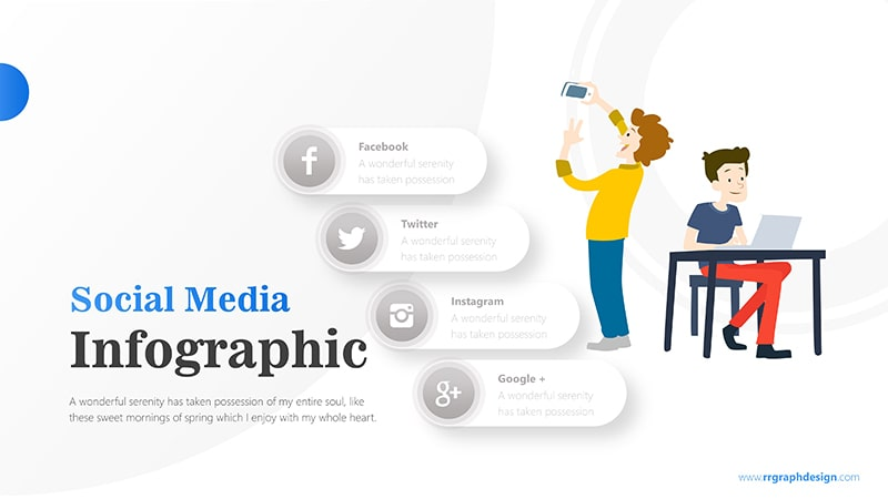 Businessman and Social Media Profiles with Text Details 6