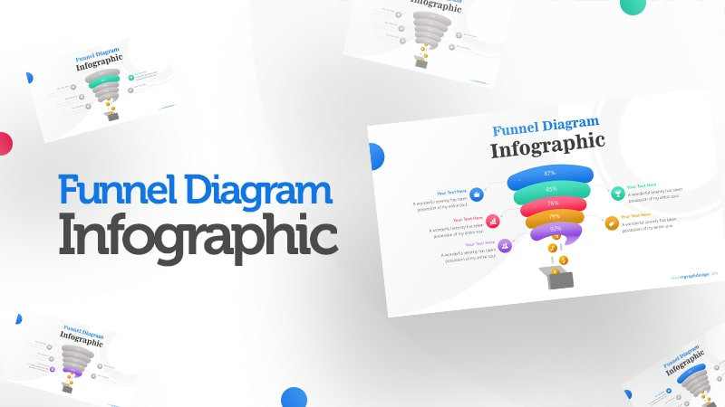 Creative Funnel Diagram Charts with Icons Points and Dollar Coins Graphic Infographic Presentation 0