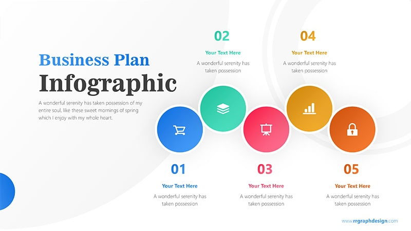 Five Colorful Circle Stage Infographic Presentation 1