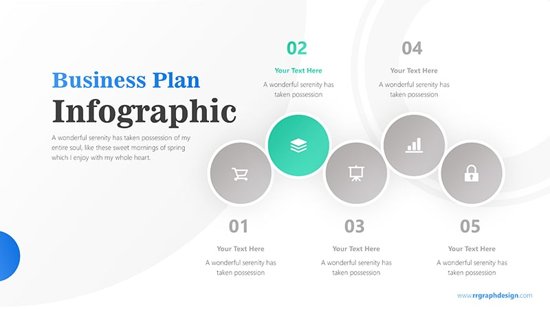 Five Colorful Circle Stage Infographic Presentation 3