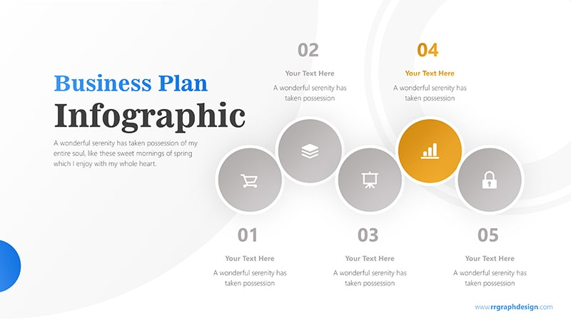 Five Colorful Circle Stage Infographic Presentation 5