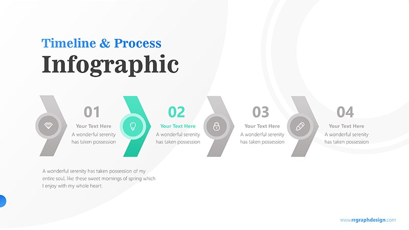 Timeline Arrows Infographic PowerPoint