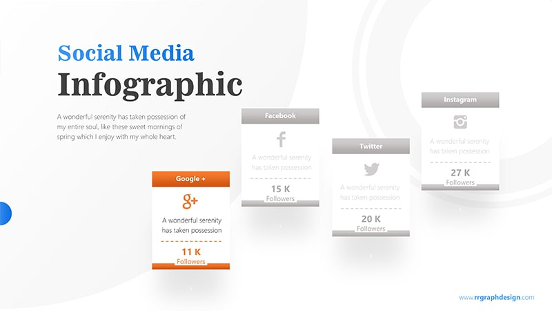 Four Options and Social Media Icons with Followers Details 2