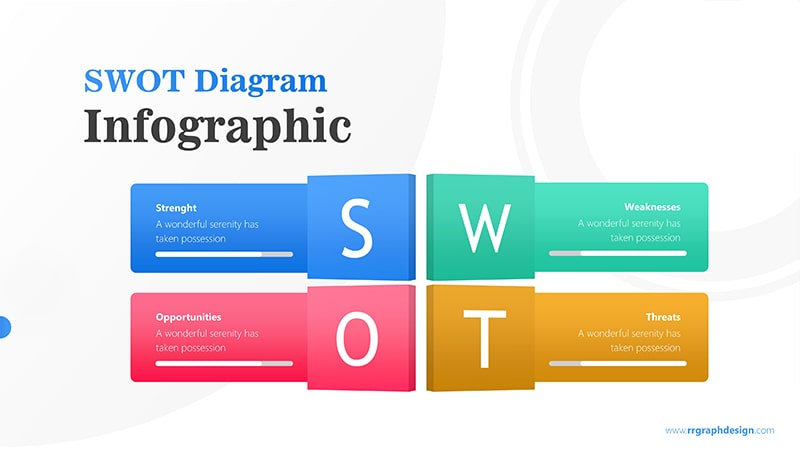 Four Text Boxes for SWOT Analysis Diagram Infographic Presentation 1