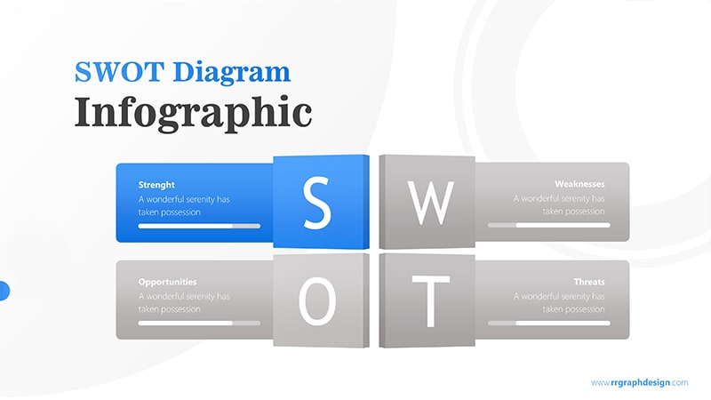 Four Text Boxes for SWOT Analysis Diagram Infographic Presentation 2