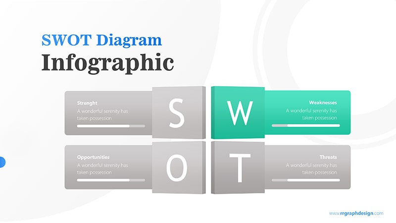 Four Text Boxes for SWOT Analysis Diagram Infographic Presentation 3