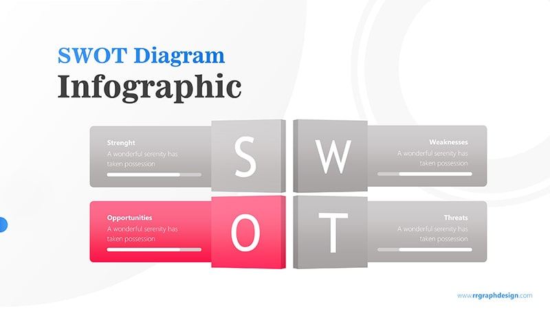 Four Text Boxes for SWOT Analysis Diagram Infographic Presentation 4