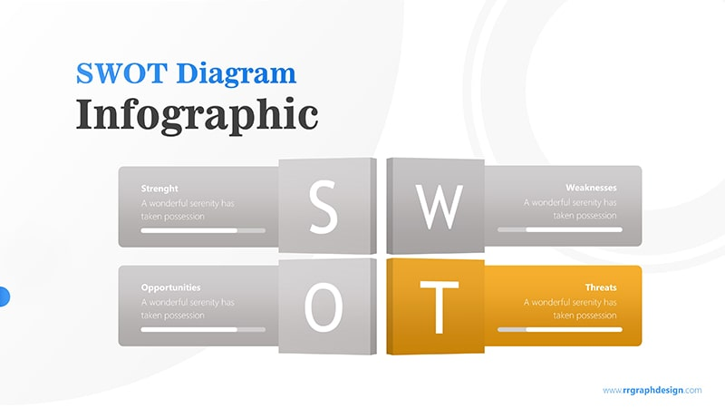 Four Text Boxes for SWOT Analysis Diagram Infographic Presentation 5