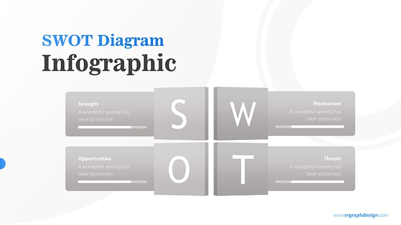 Four Text Boxes for SWOT Analysis Diagram Infographic Presentation 6