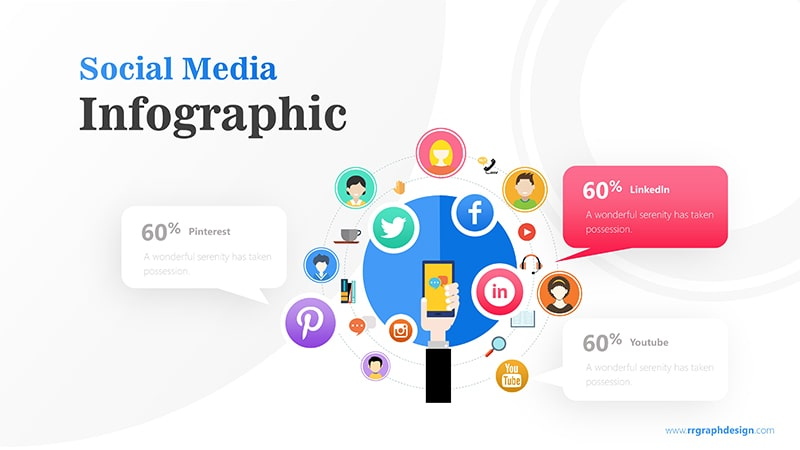 Hand Holding Smartphone and Social Media Icons Illustration 3