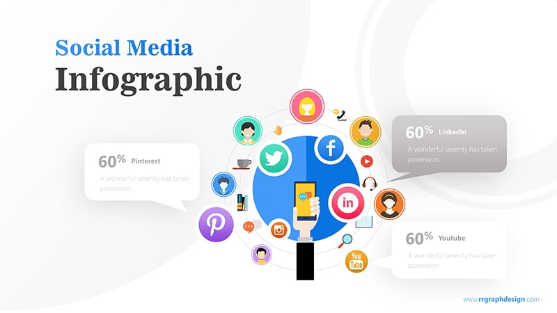 Hand Holding Smartphone and Social Media Icons Illustration 5