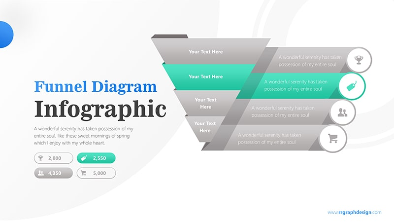 Sale Funnel Chart with Price Icons Infographic Presentation 3