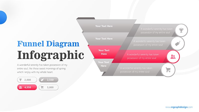 Sale Funnel Chart with Price Icons Infographic Presentation 4