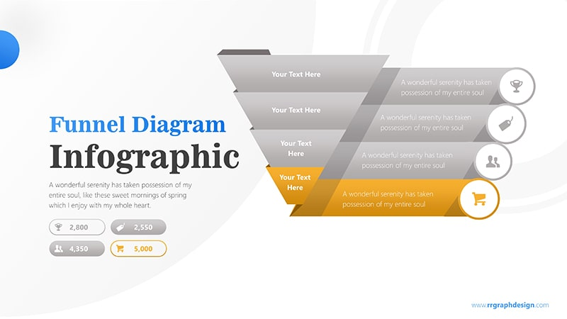 Sale Funnel Chart with Price Icons Infographic Presentation 5