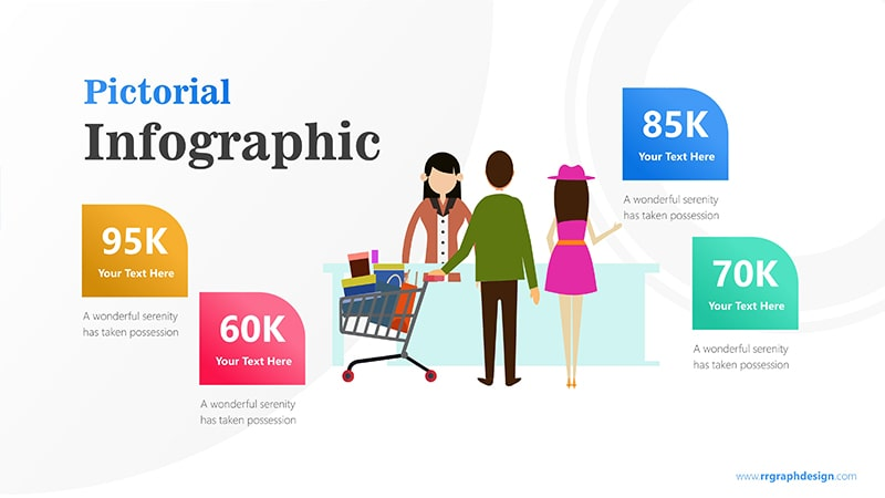 Sales Marketing with Shoping Cart and Ilustration Character Infographic Presentation 1