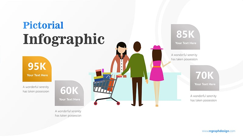 Sales Marketing with Shoping Cart and Ilustration Character Infographic Presentation 2