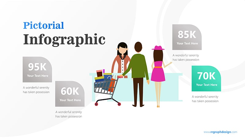 Sales Marketing with Shoping Cart and Ilustration Character Infographic Presentation 5