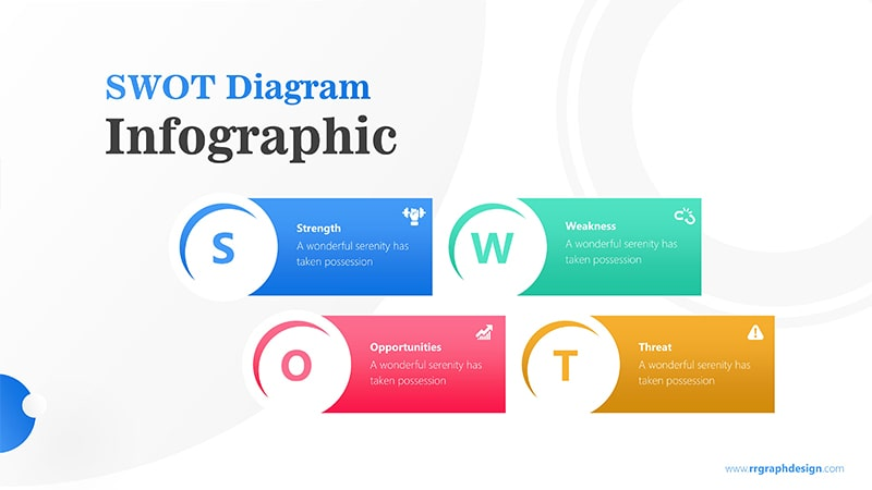 Simple SWOT Diagram for Business Analysis Infographic Presentation 1