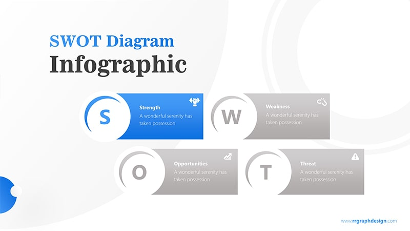 Simple SWOT Diagram for Business Analysis Infographic Presentation 2