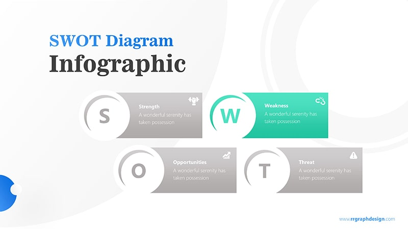 Simple SWOT Diagram for Business Analysis Infographic Presentation 3