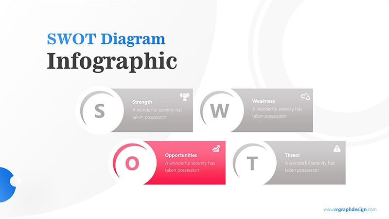 Simple SWOT Diagram for Business Analysis Infographic Presentation 4