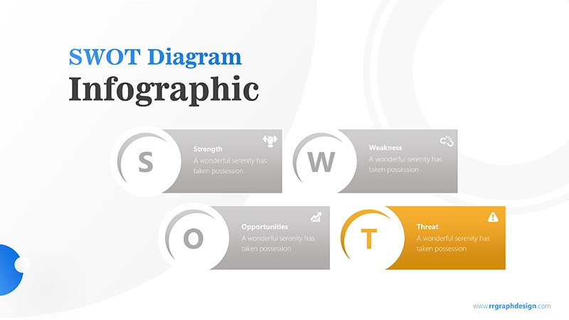 Simple SWOT Diagram for Business Analysis Infographic Presentation 5