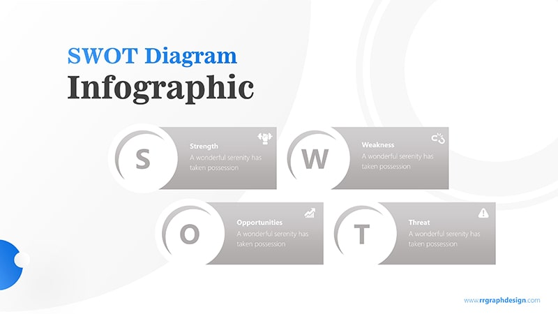 Simple SWOT Diagram for Business Analysis Infographic Presentation 6