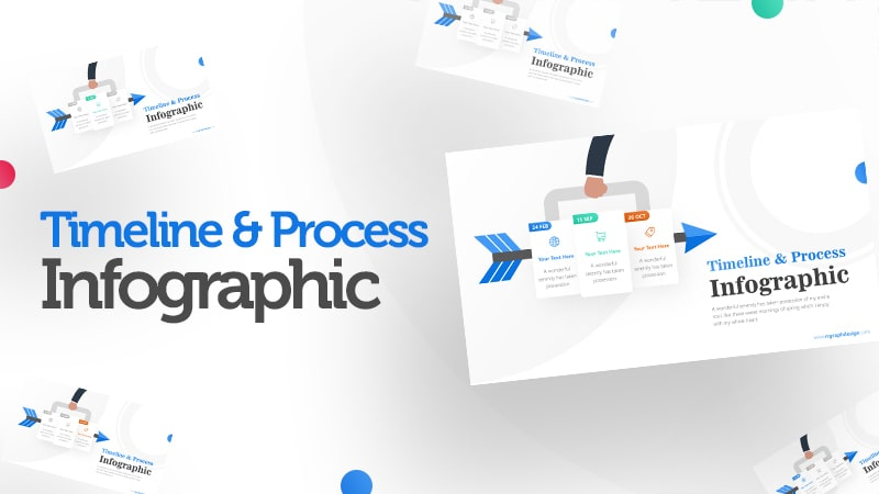Three Plans Business and Arrow Process with Business Icons and Timelines 0