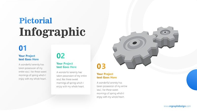 Three Stages of Business with Gear Infographic Presentation 1