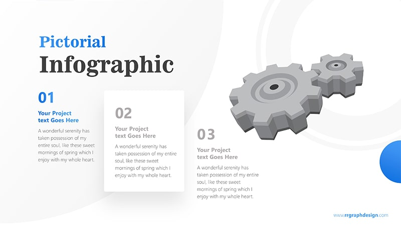 Three Stages of Business with Gear Infographic Presentation 2