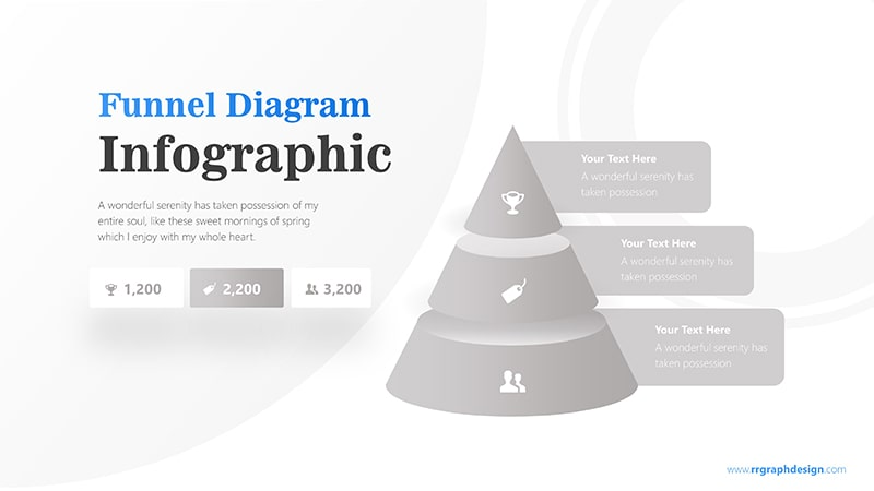 Three Step Business Funnel Diagram Infographic Presentation 5