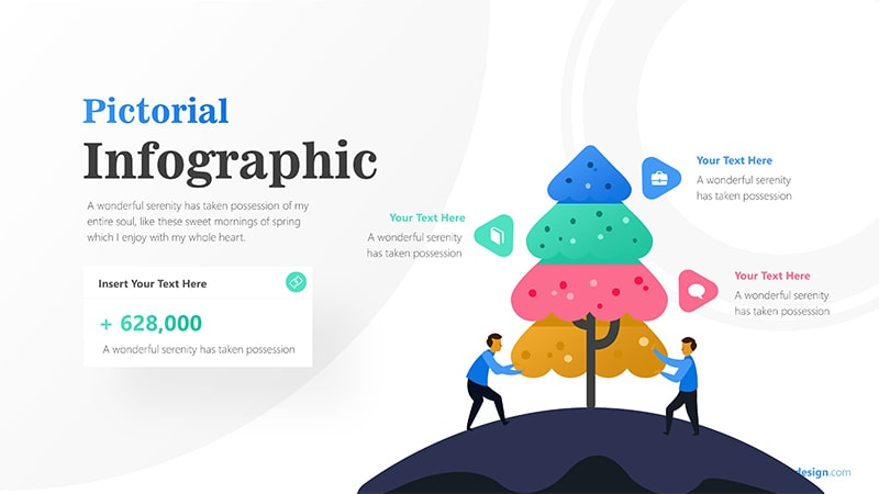 Tree Infographic with Businessman Illustration and Text Details Infographic Presentation 1