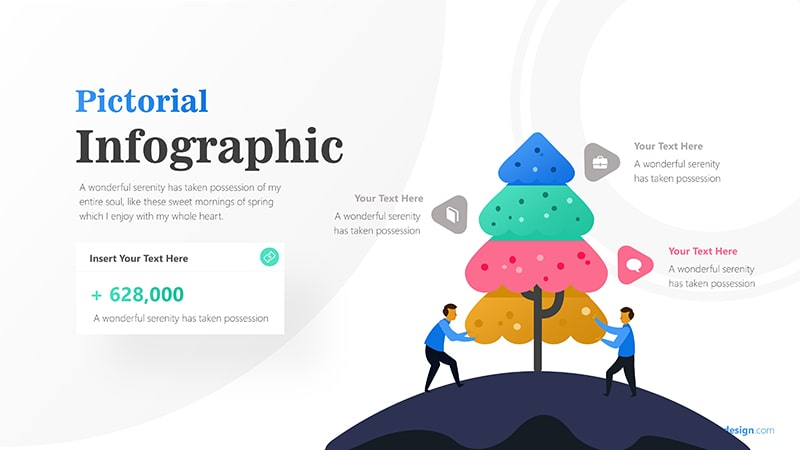 Tree Infographic with Businessman Illustration and Text Details Infographic Presentation 4