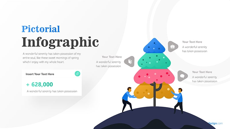 Tree Infographic with Businessman Illustration and Text Details Infographic Presentation 5