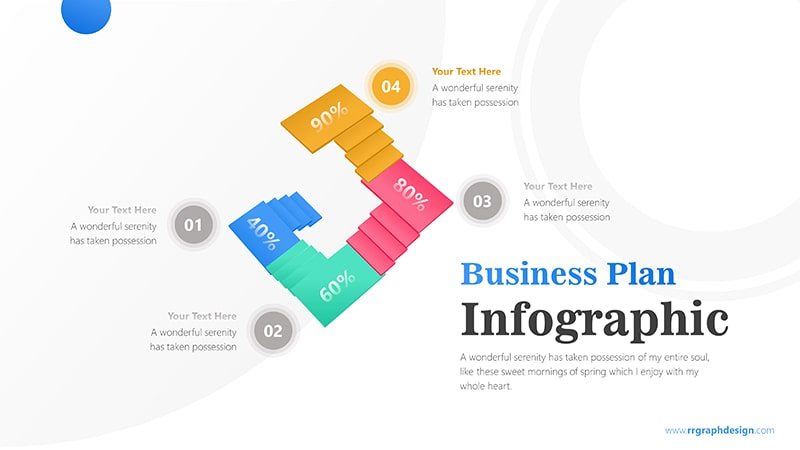 Unique Business Stairs Infographic Presentation 5