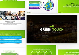 Free Green Touch PowerPoint Template