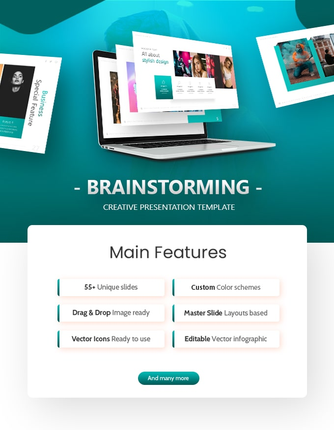 Brainstorming Business PowerPoint Template